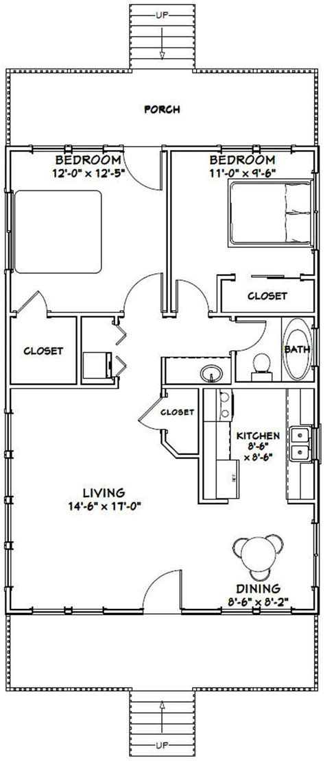 house  bedroom  bath  sq ft  floor plan etsy small house plans cabin floor