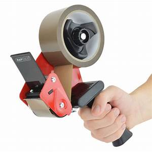 Rapesco 960 Tape Dispenser Gun With 5 Brown Packing Tapes