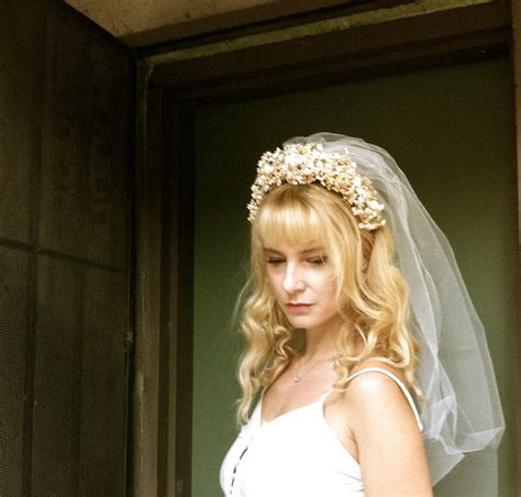 Fresh Flower Crown, With or Without Veil? ? The Knot