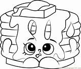 Pancake Coloring Shopkins Pamela Pages Printable Template Getdrawings Pdf Coloringpages101 Clipartmag sketch template