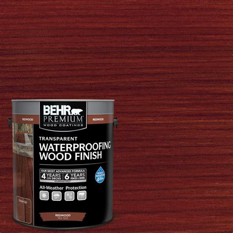 behr premium  gal   redwood transparent
