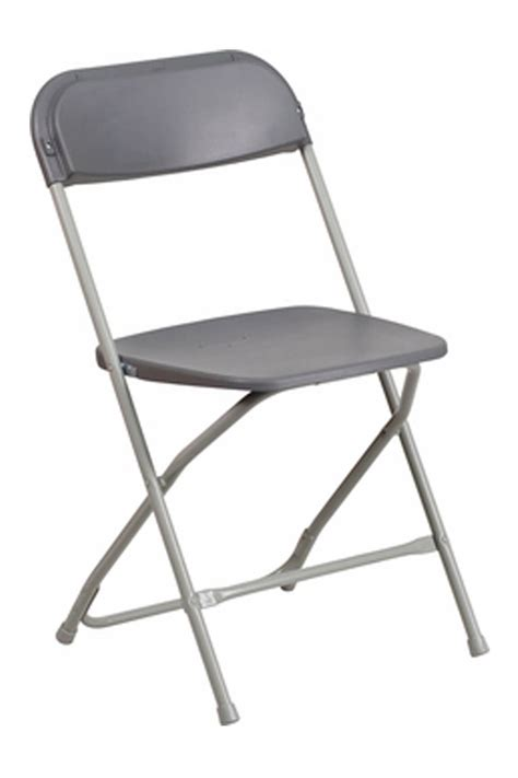 grey frame charcoal shell economy folding chair