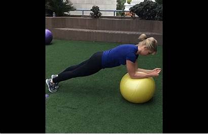 Ball Stability Exercises Core Roll Ab Plank