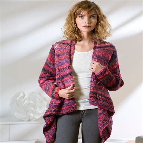 drape front cardigan red heart