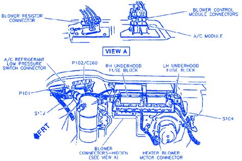Buick Lesabre Engine Compartment Electrical Circuit