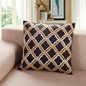 black and gold sofa pillows infosofaco With black and gold accent pillows