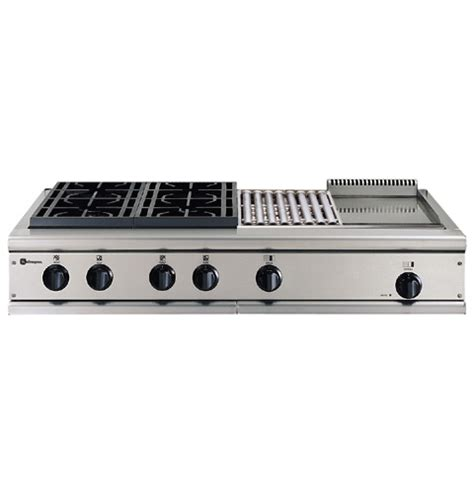 ge monogram  professional gas cooktop   burners grill  griddle natural gas