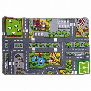 tapis de jeu circuit voiture tapis deco salon chambre With tapis de circuit