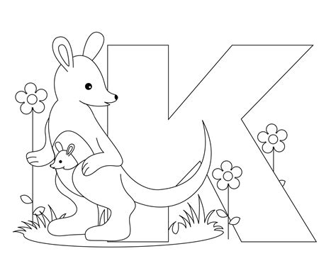 Coloring Letters by Letter K Coloring Pages To And Print For Free
