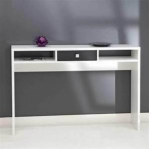Console Meuble But : console 1 tiroir blanc noir 2030a2176a17 achat vente console sur ~ Teatrodelosmanantiales.com Idées de Décoration