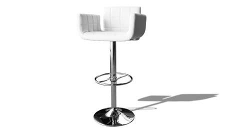 tabouret de bar fauteuil design tabourte blanc mobilier cuir