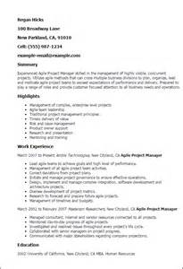 agile scrum product owner resume professional agile project manager templates to showcase your talent myperfectresume