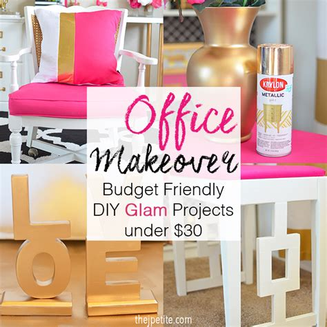 J Petite Office Makeover  Budget Friendly Diy Glam