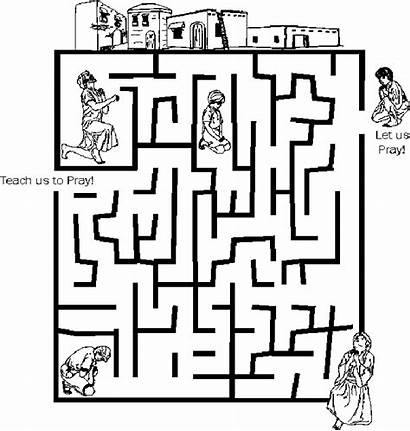 Maze Mazes Pages Coloring God Worksheets Bible