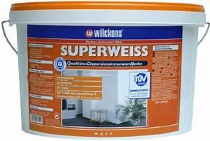 Test Wandfarbe Weiß : wilckens superweiss 2 5 l 5l ~ Lizthompson.info Haus und Dekorationen