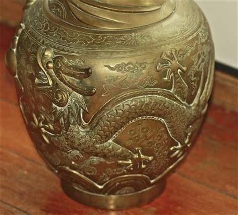 antique brass vase value bronze vase elaborate seal need identification 4079