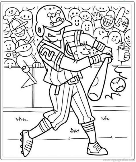 hitter  baseball coloring page pritable sports