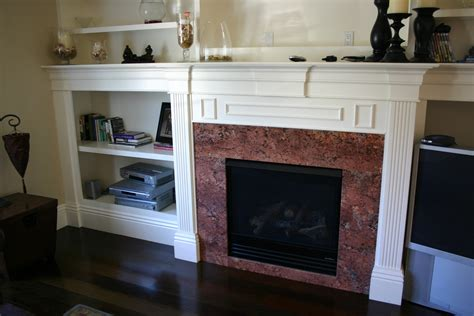 installing a fireplace surround using granite in portland