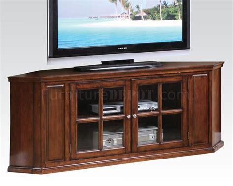 48618 malka corner tv stand in oak by acme