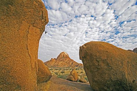 climbing spitzkoppe granite mountain  namibia