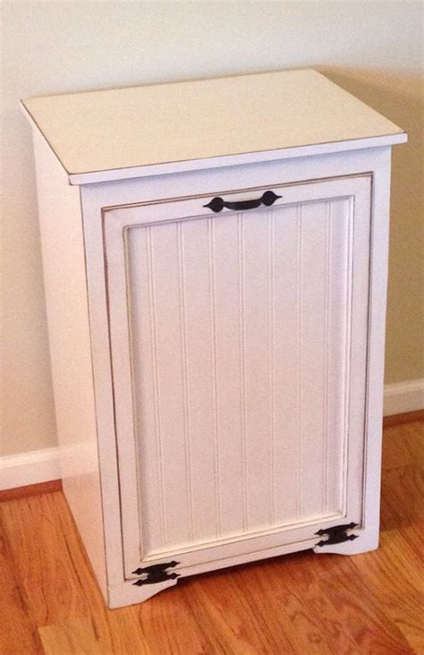 tilt out trash bin storage cabinet large tilt out trash can cabinet by tinbarncreations on