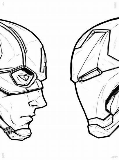 Captain America Drawing War Civil Getdrawings Sketch