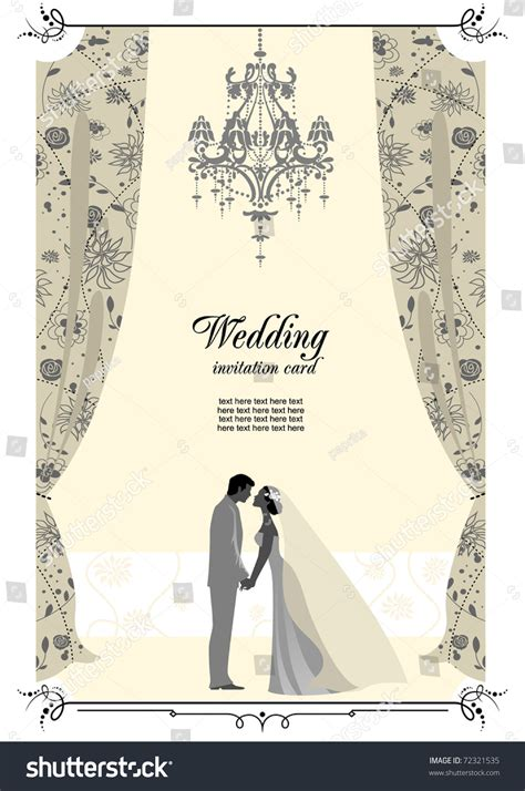 wedding card space text stock vector  shutterstock