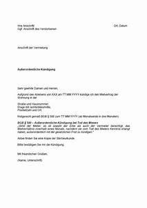 Außerordentliche Kündigung Mietvertrag : mietrecht im todesfall wie k ndigt man einen mietvertrag ~ Lizthompson.info Haus und Dekorationen