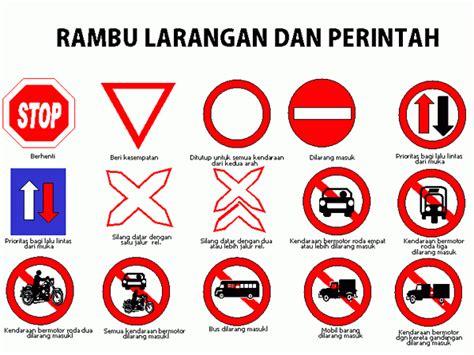 rambu rambu  lintas lengkap  gambar arti