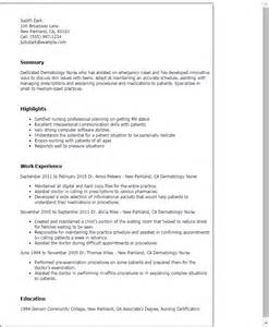 Dermatology Assistant Resume by Professional Dermatology Templates To Showcase Your