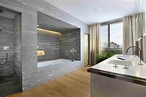 salle de bain pierre et bois une beaute naturelle ideeco With salle de bain design avec pierre naturelle salle de bain