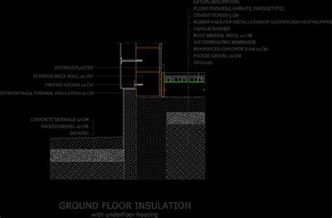 ground floor  underfloor heating connection