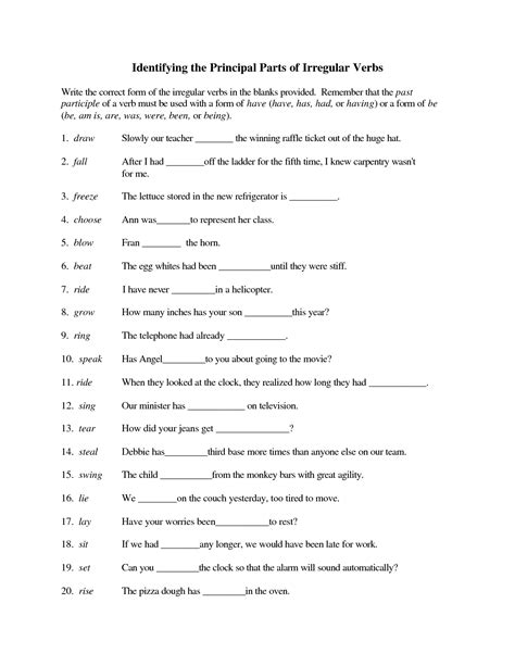 best of all verbs worksheets grade 5 mall scavenger hunt future tense verbs