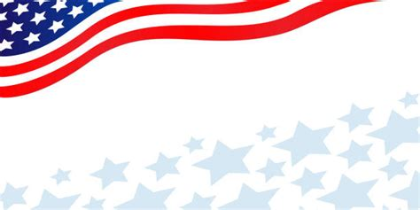 american flag page border illustrations royalty