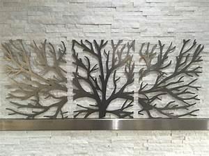 3d Wall Art : metal wall art decor 3d sculpture 3 piece tree brunch modern 1 picclick uk ~ Sanjose-hotels-ca.com Haus und Dekorationen