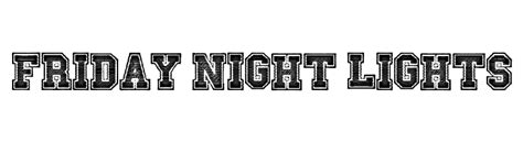 friday lights free eternal font comments