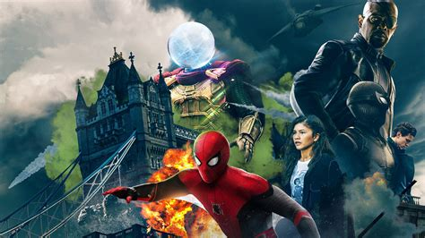 spider man   home characters   wallpaper