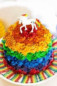 Regenbogen Einhorn Torte : ideen f r eine tolle einhorn regenbogen party sasibella ~ Frokenaadalensverden.com Haus und Dekorationen