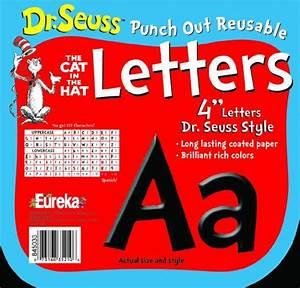 Eureka dr seuss punch out reusable decorative 4 inch for Dr seuss letter stencils