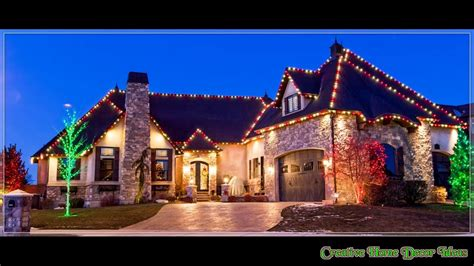 traditional outdoor christmas lights ideas youtube