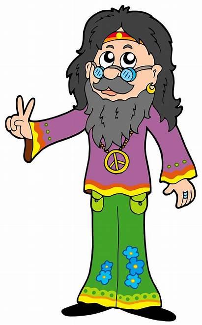 Hippie Clipart Clip Peace Vector Guru Counterculture