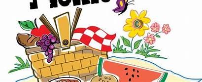 Picnic Church Clipart Games Outdoor Clip Potluck