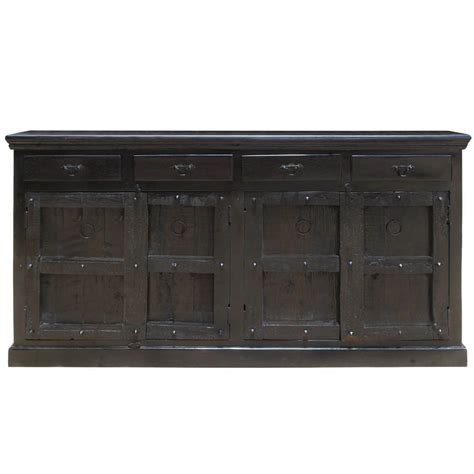 Black Wood Sideboard by Kansas City Solid Wood 4 Drawer Black Sideboard