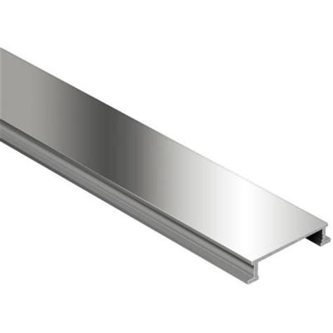 Schluter Tile Trim Home Depot by Schluter Designline Polished Nickel Anodized Aluminum 1 4