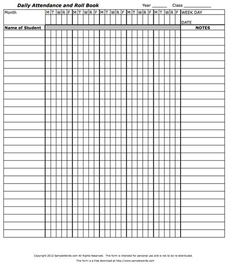 teachers attendance  roll book classroom attendance