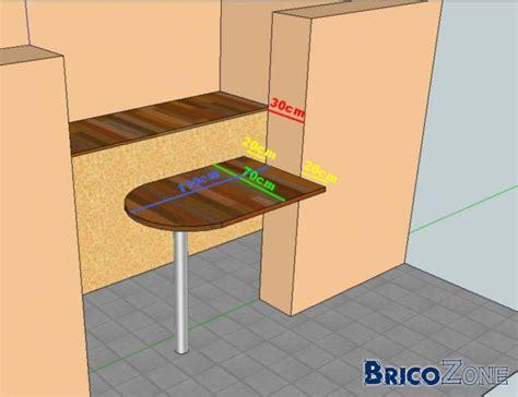 table de cuisine a fixer au mur idée table de bar fixee au mur