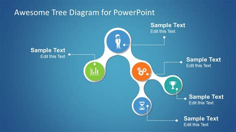 awesome tree diagram template  powerpoint slidemodel