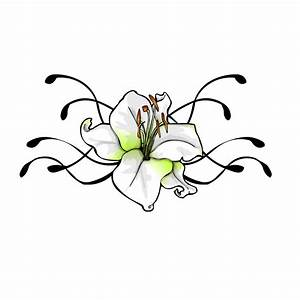Tattoo Flower Designs Lily Vines Yellow White - Free ...