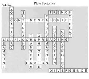 Plate Tectonics Crossword Puzzle Answer Key