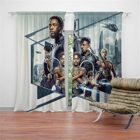 Black Bedroom Curtains by Black Panther Bedroom Curtain Ebeddingsets